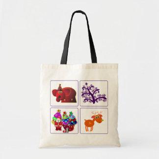 Christmas bags: Santa, Elephant, Reindeer,& C-Tree Tote Bag