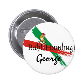 Christmas Bah! Humbug! 2 Inch Round Button