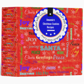 Christmas Baked With Love Cookies Ring Binder