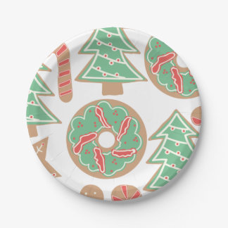 Christmas Baking Print 7 Inch Paper Plate