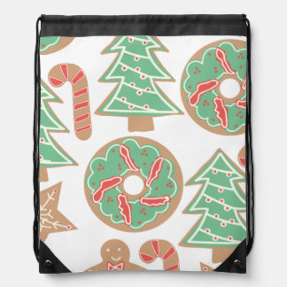 Christmas Baking Print Drawstring Bag