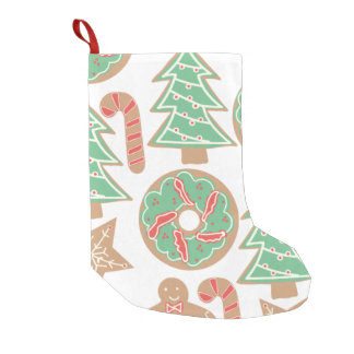Christmas Baking Print Small Christmas Stocking