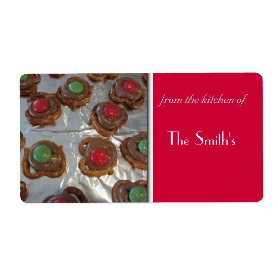 Christmas Baking Shipping Label