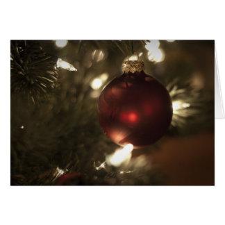 Christmas Ball Ornament Card