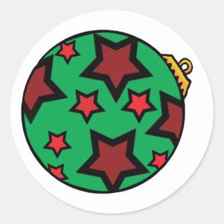 Christmas Ball Ornament Classic Round Sticker