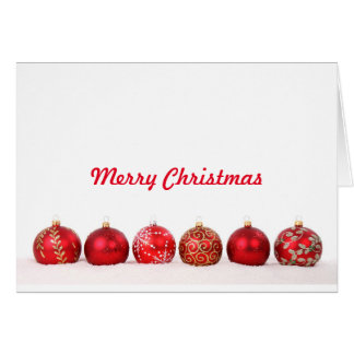 Christmas Ball Ornaments Card