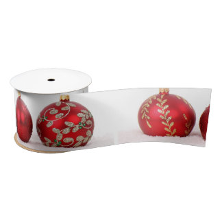 Christmas Ball Ornaments Satin Ribbon