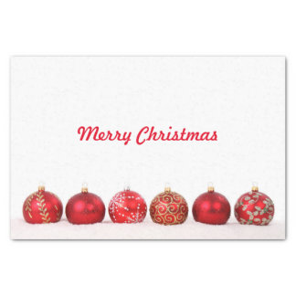 Christmas Ball Ornaments Tissue Paper