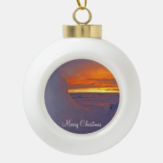 Christmas Ball Ornaments With Arctic Ocean