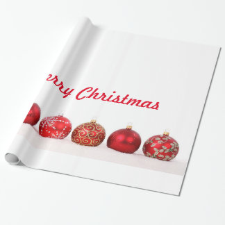 Christmas Ball Ornaments Wrapping Paper