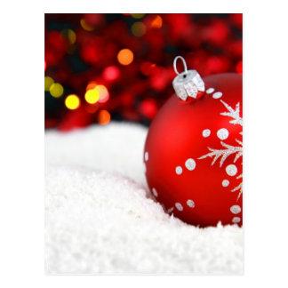 Christmas ball postcard