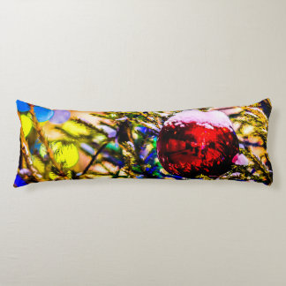 Christmas Ball Red Body Pillow