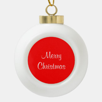 Christmas Ball Red Ceramic Ball Christmas Ornament