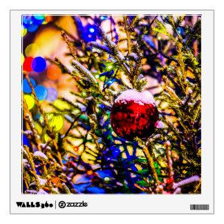 Christmas Ball Red Wall Sticker
