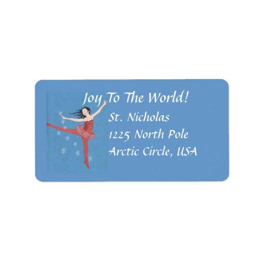 Christmas Ballerina Address Labels