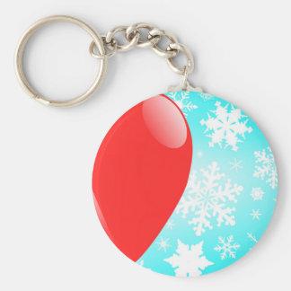 Christmas Balloon Basic Round Button Keychain