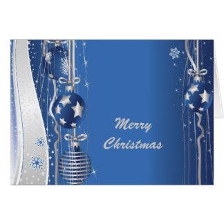 Christmas Balls And Ribbons Greeting Card
