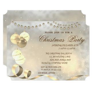Christmas Balls,Corporate Christmas Party Card