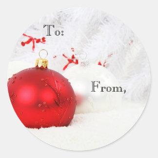 Christmas Balls Decoration Gift Sticker