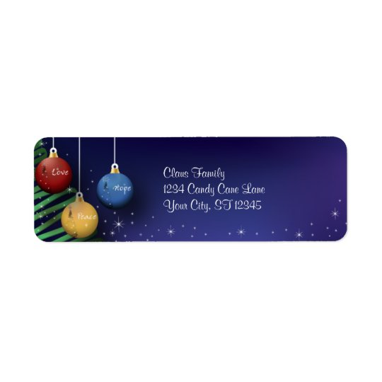 Christmas Balls Return Address Return Address Label