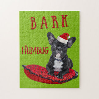 Christmas BARK Humbug French Bulldog Puzzle