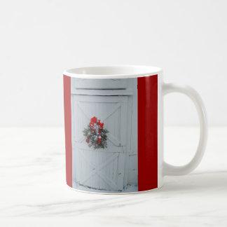 Christmas Barn Door Coffee Mug