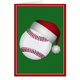 Christmas Baseball Card