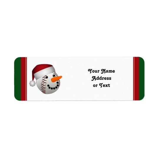 Christmas Baseball Snowman
