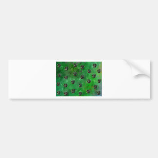 CHRISTMAS BASKET PATTERN BUMPER STICKER