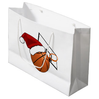 Christmas Basketball and Hoop Large Gift Bag