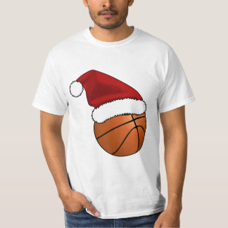 Christmas Basketball and Hoop T-Shirt