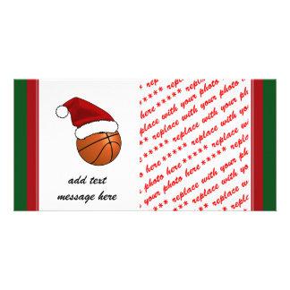 Christmas Basketball Custom Photo Card