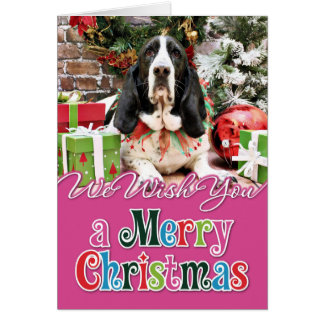 Christmas - Basset Hound - Jasmine Card