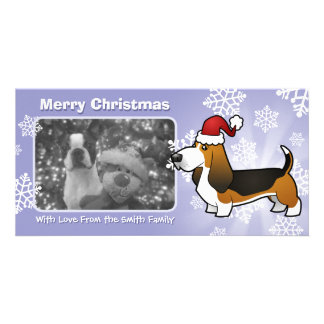 Christmas Basset Hound Photo Card