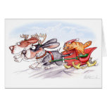 Christmas Bassets Greeting Cards