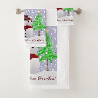 Christmas Bath Towel Set