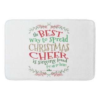 Christmas Bathmat, Spread Christmas Cheer singing Bath Mat