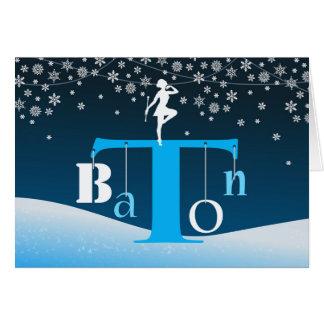 Christmas, Baton Twirling, Baton Letter Tree Art Card