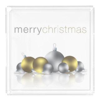 Christmas bauble acrylic tray