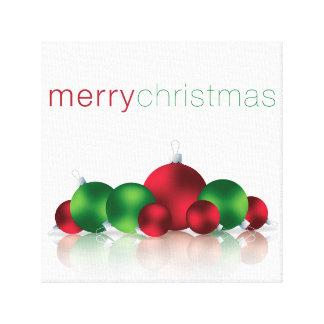 Christmas bauble canvas print
