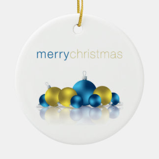 Christmas bauble ceramic ornament