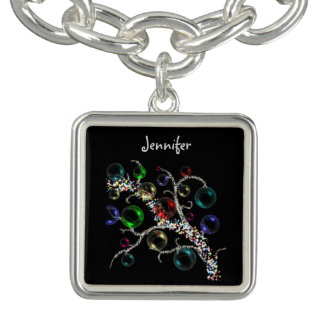 Christmas Bauble Charm Bracelet