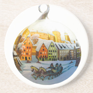christmas bauble coaster
