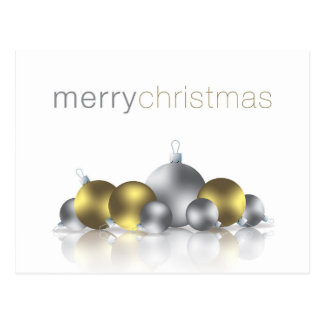 Christmas bauble postcard