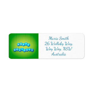 Christmas bauble return address label