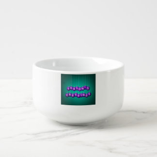 Christmas bauble soup mug