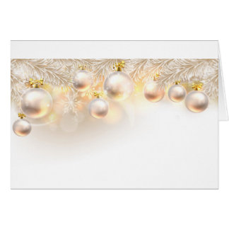 Christmas Baubles Background Card