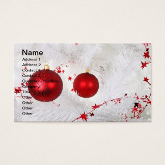 Christmas Baubles Business Card