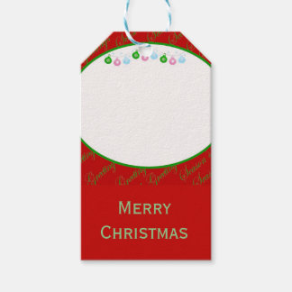 Christmas baubles Merry Christmas Gift Tags