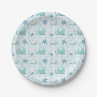Christmas Baubles Paper Plate